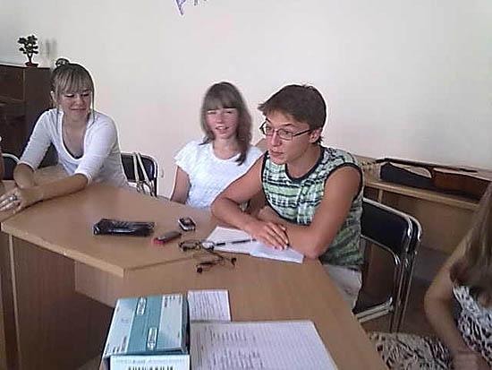 Учасники молодіжного клубу «Позитив»
